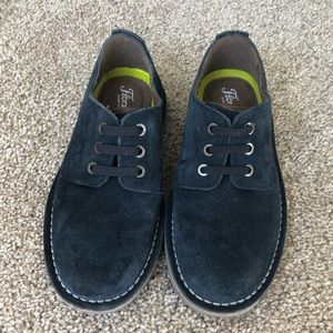 Boys Blue Suede Slip On Loafers